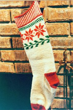 Stranded Christmas stocking #knitting #ravelry