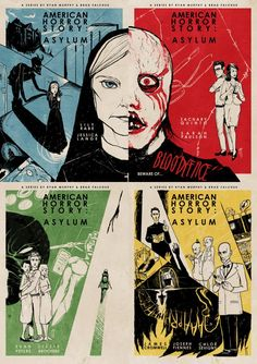 AHS Asylum Vintage Posters