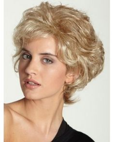 High Quality Short Layer Frosty Curly Synthetic Wig