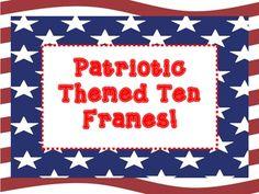 Patriotic Themed Ten Frame: FREEBIE