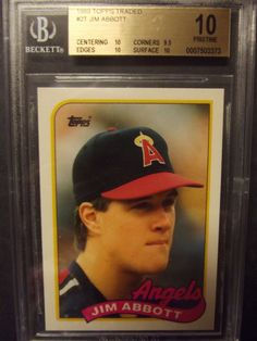 1989 Topps Traded #2T Jim Abbott RC BGS 10 Pristine RARE Angels Gold Label #Angels Baseball Card Values, Baseball Cards, Small Cards, Gold Labels, National League, Sports Teams, Trading Cards, Making Out, Mlb