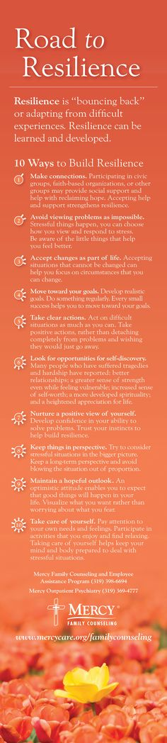 Tips for the road to #resilience to assist in recovery from a difficult experience.