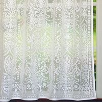✓Regency 100% Cotton Lace Curtain Panel: Each panel is woven in Scotland using traditional methods and the finest creamy white 100% cotton.