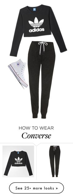 """Bri"" by slutify on Polyvore featuring adidas, Topshop and Converse"