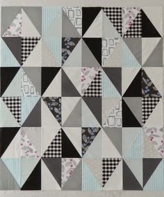 I think I found my new favorite patchwork shape - half rectangle triangles. They are a little bit...
