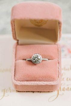 romantic diamond engagement ring - photo by Elizabeth Fogarty