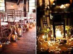 country style lantern decoration ideas for wedding - Google Search