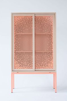Amazing cabinet and pink!