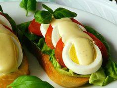 Caprese Salad, Food Art, Tacos, Appetizers, Eggs, Breakfast, Ethnic Recipes, Lemon, Chef Recipes