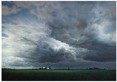 Passing Storm, Fritz Hoendervanger, oil on canvas