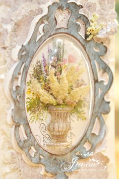 Jiwon Crafts Blog: Flower card