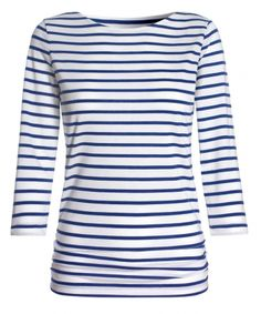 Worn by Kate during the 2014 tour AND today for the polo with Prince George:  http://katemiddletonstyle.org/item/me-and-em-breton-stripe-top/