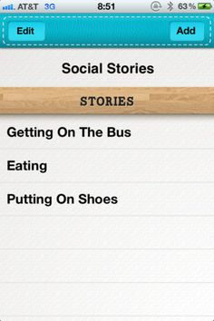 Social Stories is an iPhone / iPad app for teaching children or young adults with learning challenges or special needs. Social Stories is great for typically developing children, and children with developmental disabilities. These include  - speech & language impediments,  - ADD & ADHD - auditory processing disorders - PDD-NOS - down syndrome - physical impairments - autism