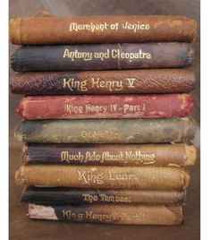 """thepreppyfox: """" myfairylily: """"Vintage 1910 Shakespeare pocket books """" It's not that I lust after these…Much…ok I do """" Ditto…."""