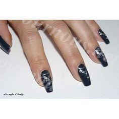 Stickers d'ongles Nail art Water decal burlesque décolleté argent