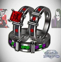 His & Hers Harley Quinn and The Joker Batman by DymondNcrustD Engagement/Wedding Rings                                                                                                                                                                                 More