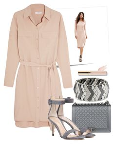 """""""The shirt dress"""" by lizard-on-a-rock on Polyvore featuring Post-It, ASOS, Equipment, Chanel, Gianvito Rossi, Steve Madden and shirtdress"""