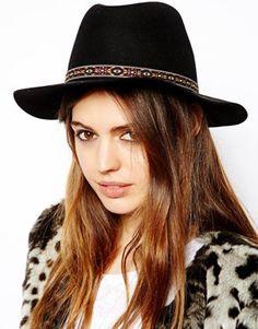 ASOS Aztec Band Felt Fedora Hat