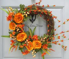 Spring Wreath, Summer Wreath, Seasonal Wreath, Front Door Wreath,  Delphinium, Gladiolus, Spring Décor, Summer Décor, Seasonal Décor |  Gladioli, Front Door ...
