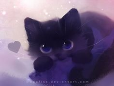 Cute Cat Illustrations by Rihards Donskis - Animation animal - Katzen Cute Cat Illustration, Cat Illustrations, Black Cat Art, Kawaii Cat, Anime Animals, Cute Animal Drawings, Warrior Cats, Cat Drawing, Animal Paintings
