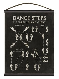 Dance Steps Charleston Tango (Canvas Tapestry)