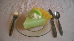 Key Lime Pie Slice © by DessertAnyoneCandles on Etsy