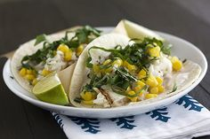 Fish Tacos with Chipotle Cream - Handle the Heat