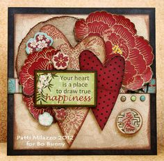 Your Heart Card created by Patti Milazzo using the new Bo Bunny Serenity products. I think this is my newest fav