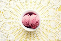 OMG, strawberry sorbetto craving.