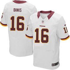 Men Nike Washington Redskins #16 Brandon Banks Elite White NFL Jersey Sale Cowboys Jason Witten jersey