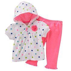 Carter's Polka-Dot Hooded Cardigan and Leggings Set - Baby