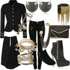 Black & Gold.