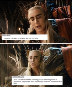 Thranduil with text posts