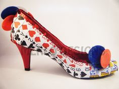 Incredible shoes customised with cut out playing cards. I love them!