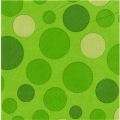 Lime dots beverage napkin