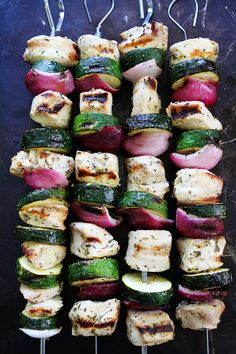 These grilled chicken kebabs are easy to make and delicious!