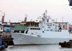 China's first Type 056 stealth frigate to the Chinese People's Liberation Army Navy (PLA Navy) in Shanghai.