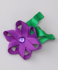 Take a look at this Purple Flower Clip by Bubbly Bows on #zulily today!
