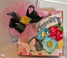 Handmade scrapbook paper bag mini album~~~~~~ CUTE!~~~~~ #Handmade