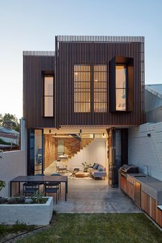 Thoughts on this house? The Fitzroy North House is designed by MMAD Architecture Melbourne Australia Jack Lovel - Architecture and Home Decor - Bedroom - Bathroom - Kitchen And Living Room Interior Design Decorating Ideas - Residential Architecture, Interior Architecture, Australian Architecture, Victorian Terrace, Design Moderne, Window Design, Modern House Design, Loft Design, Narrow House Designs