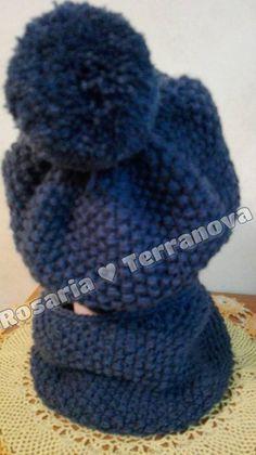 Le passioni di Sara: Come realizzare un cappello da bambino/a e girocollo abbinato ai ferri circolari Diy And Crafts, Knitting, Crochet, Alpaca, Tutorial, Fashion, Iron, Cowl, Moda