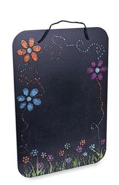 Glitter Flower Chalkboard by Craftsmart™