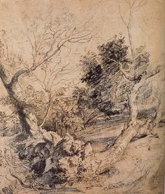 Peter Paul Rubens Forest landscape Today this drawing is attributed to his pupil Antoon Van Dyck Peter Paul Rubens, Chiaroscuro, Forest Landscape, Landscape Art, Drawing Sketches, Cool Drawings, Sketching, Landscape Drawings, Rembrandt
