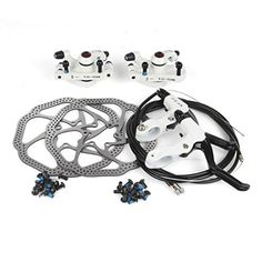 AFTERPARTZ Bike Disc Brake Kit Front Rear Rotor White Kit with handle >>> Details can be found by clicking on the image. Bicycle Helmet, Bike, Bicycle Parts, Image Link, Handle, Amazon, Check, Bicycle, Riding Habit