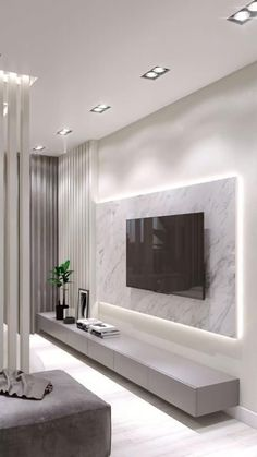 Modern Tv Room, Modern Tv Wall Units, Living Room Modern, Living Room Interior, Transitional Living Rooms, Small Living, Transitional Decor, Modern Tv Cabinet, Bedroom Modern