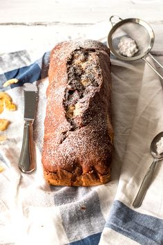 One Bowl Banana Marble Bread | savorynothings.com