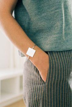 Square Cuff Bracelet