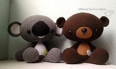 Ravelry: Large Huggable Bear & Koala pattern by Josephine Wu