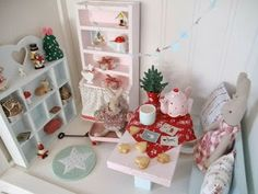 Christmas dollhouse decoration