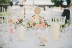 Lakeside Wedding at Castle Maria Loretto Wedding Centerpieces, Wedding Table, Our Wedding, Dream Wedding, Wedding Decorations, Centrepieces, Floral Wedding, Wedding Flowers, Wedding Pastel